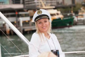 harbourside cruises - outer deck - guest posing