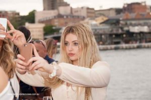 harbourside cruises - outer deck selfie