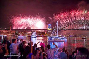 nye cruise sydney-fireworks on boat