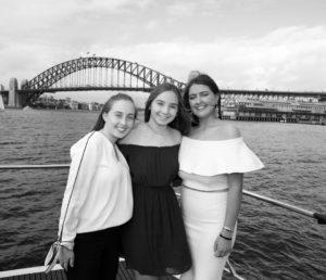 Harbour Spirit Sydney friend on outer deck