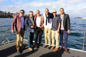Harbour Spirit Sydney mates on the deck